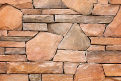 Modern slab ,slat stone wall Royalty Free Stock Photo