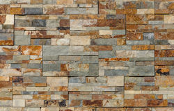 Modern Slate bricks wall for background Stock Photo