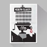 Modern slaveriaffisch Royaltyfria Foton