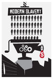 Modern Slavery Poster Royalty Free Stock Photography