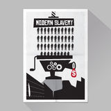Modern slavery poster Royalty Free Stock Photos