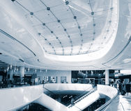 Modern sleek shopping architecture in mall. In Birmingham,England Royalty Free Stock Photo
