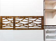 Modern sliding-door wardrobe Stock Image