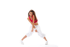 Modern slim dance style woman dancer Royalty Free Stock Images