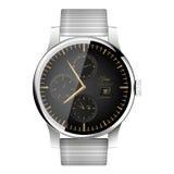 Modern slim horloge Royalty-vrije Stock Fotografie