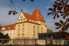 Modern slott av Pirna, Sachsen Arkivbilder