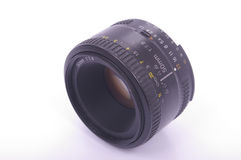 Modern SLR lens. A modern 50mm auto focus SLR camera lens Stock Images