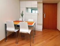 Modern small apartment interior Royalty Free Stock Photos
