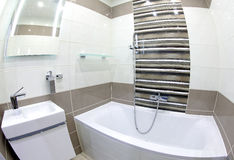 Modern small bathroom stock photo