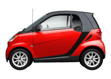 Modern Small red car. Stock Images