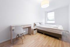 Modern and small sleeping room interior design Royalty Free Stock Photo