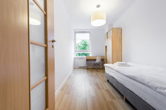 Modern and small sleeping room interior design Royalty Free Stock Images