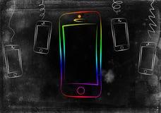 Modern smart design för telefonisoleringskonst Fotografering för Bildbyråer
