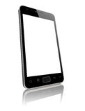 Modern smart phone with blank screen isolated Stock Photo