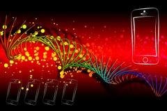 Modern smart phone isolation art design Royalty Free Stock Photo