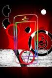Modern smart phone isolation art design Stock Photos