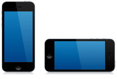Modern Smart Phone Landscape And Portrait Isolated Royalty Free Stock Image