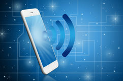 Modern smart phone witih WiFi signal Royalty Free Stock Image