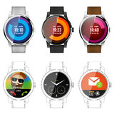 Modern Smart watch. Application template, vector illustration Stock Images