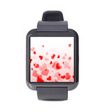Modern smart watch with hearts Stock Photos