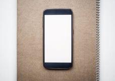 Modern smartphoneåtlöje upp med den vita tomma skärmen Royaltyfria Foton