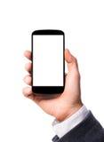 Modern smartphone in hand Stock Image