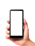 Modern smartphone in hand Royalty Free Stock Image