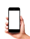 Modern smartphone in hand Royalty Free Stock Photos