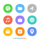 Modern smartphone icons set. Different color icons Stock Images