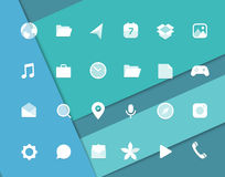 Modern smartphone icons set Stock Images