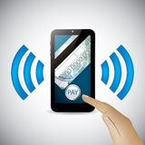 Modern smartphone mobile payment technology Royalty Free Stock Photo