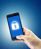 Modern smartphone with mobile security application interface Royalty Free Stock Photo