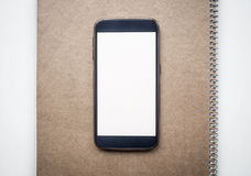 Modern smartphone mock up with white blank screen Royalty Free Stock Photos