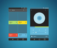 Modern smartphone player interface template Stock Photography