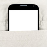 Modern smartphone in the pocket Royalty Free Stock Photography