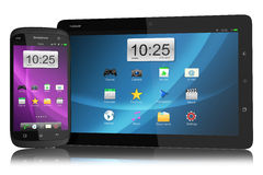 Modern smartphone and tablet PC Stock Photos