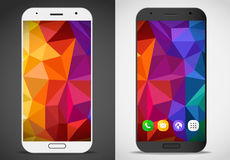Modern smartphones with abstract mockup Stock Image