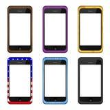 Modern smartphoneuppsättning för vektor Royaltyfri Foto