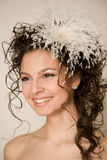 Modern smiling bride Royalty Free Stock Photos