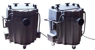 Modern smoke/fog dry ice device. Dry ice low fog machine stock photo