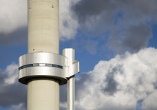 Modern smokestack. Of a waste utilizing plant in Amsterdam, the Netherlands Royalty Free Stock Image
