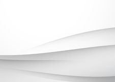 Modern smooth grey futuristic abstract lines Royalty Free Stock Image