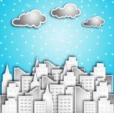 modern snow för stad Royaltyfria Bilder