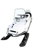 Modern snowmobile. Isolated on a white background Stock Photography