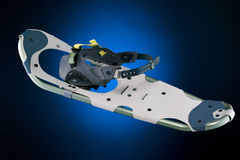 Modern snowshoe on gradiant black and blue Royalty Free Stock Image
