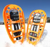 Modern snowshoes in the mountain Stock Photography