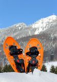Modern snowshoes in the mountain Royalty Free Stock Photos