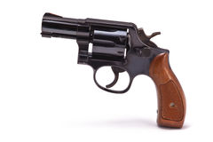 Modern Snubnose Revolver. A photo of snub nose revolver isolated on a white background. This handgun was a standard issue weapon for police detectives for many Royalty Free Stock Photos