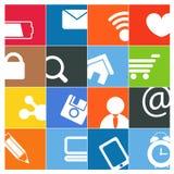 Modern social media buttons vector illustration
