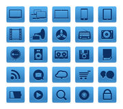 Modern Social media buttons Stock Photos